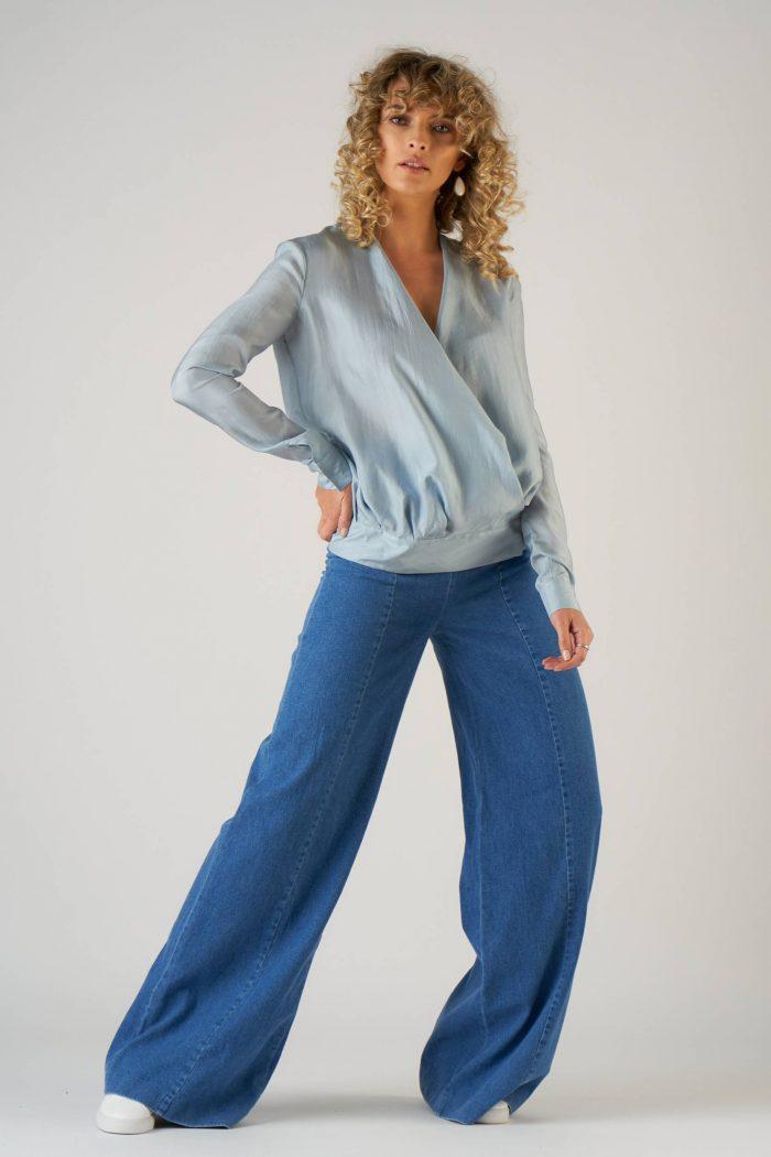 Pantalon Palazzo Jeans