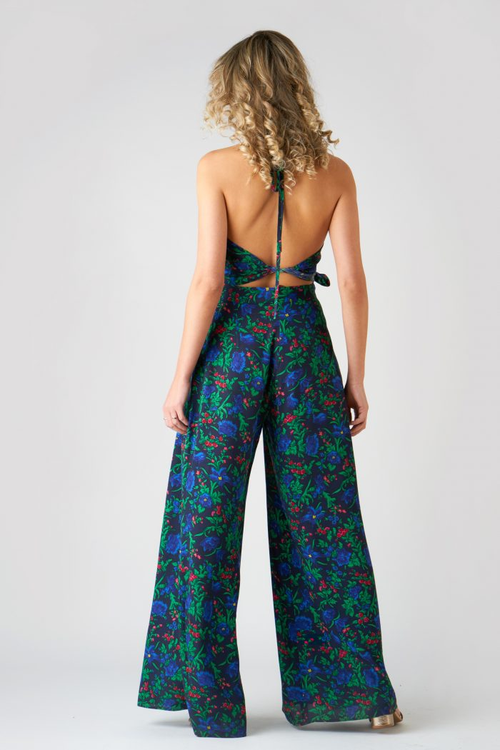 Pantalon Pamela Flowers Blue