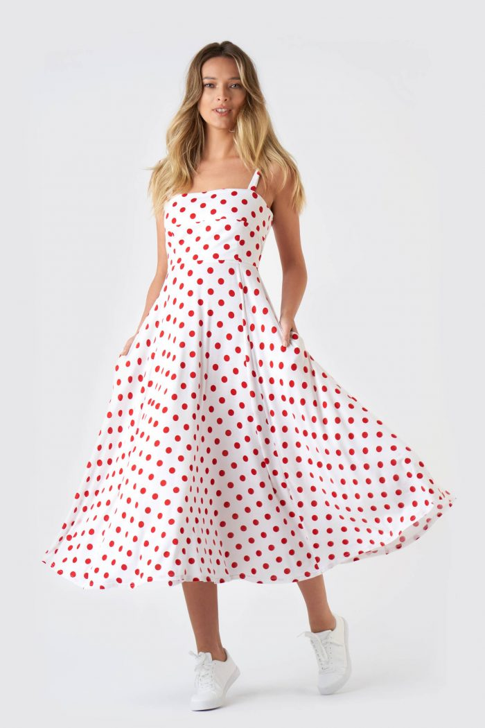 Rochie Butterfly Polka Dots Red