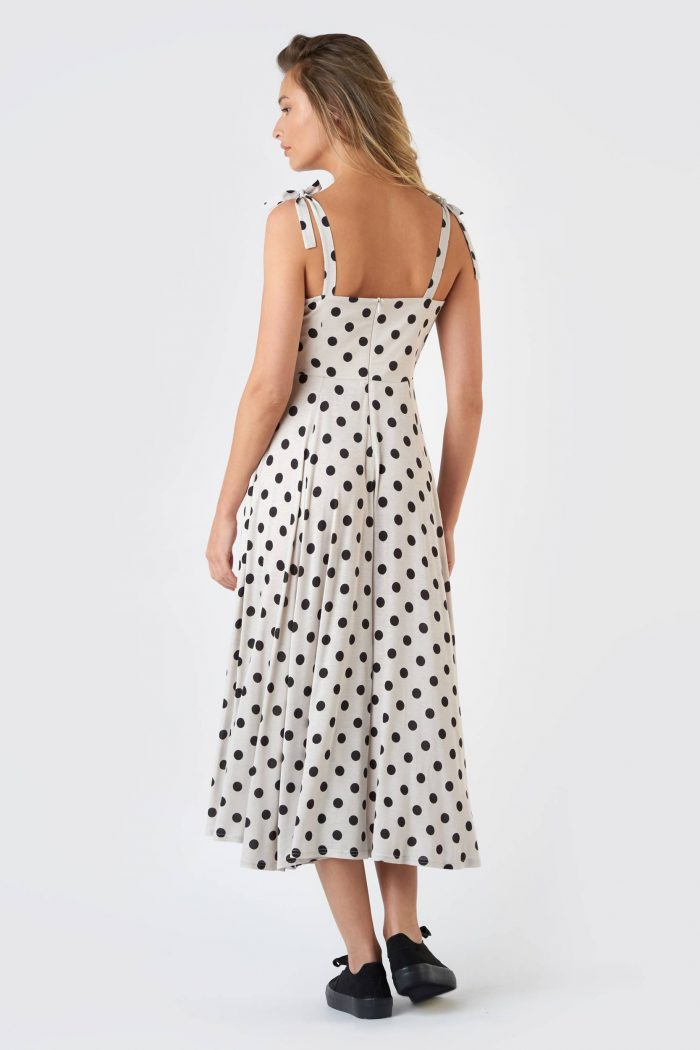Rochie Butterfly Polka Dots White