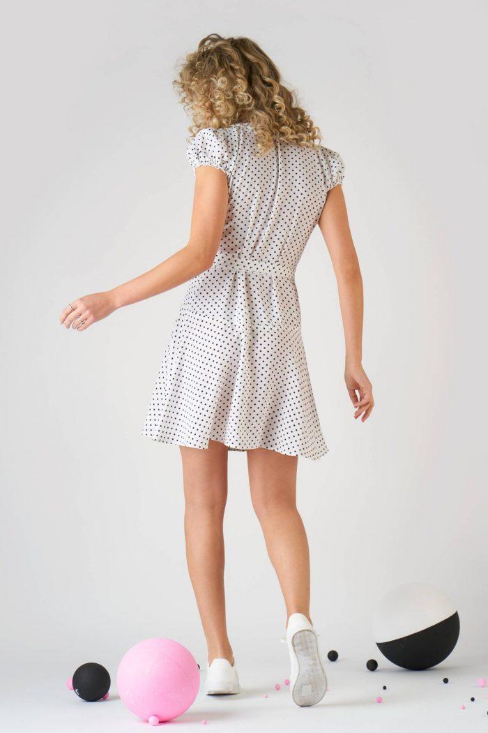 Rochie Giovanna S Polka dots White
