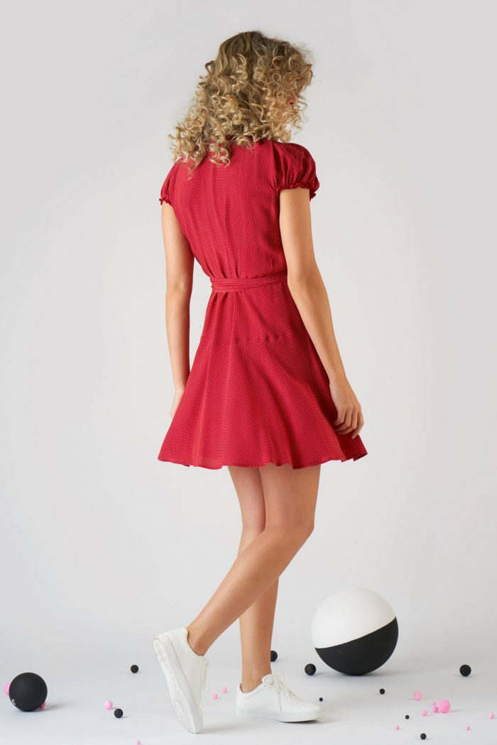 Rochie Giovanna S Polka dots Red