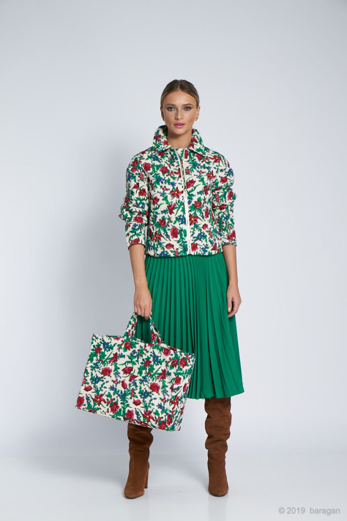 Jacheta Mikela Polka Dots Flowers Green