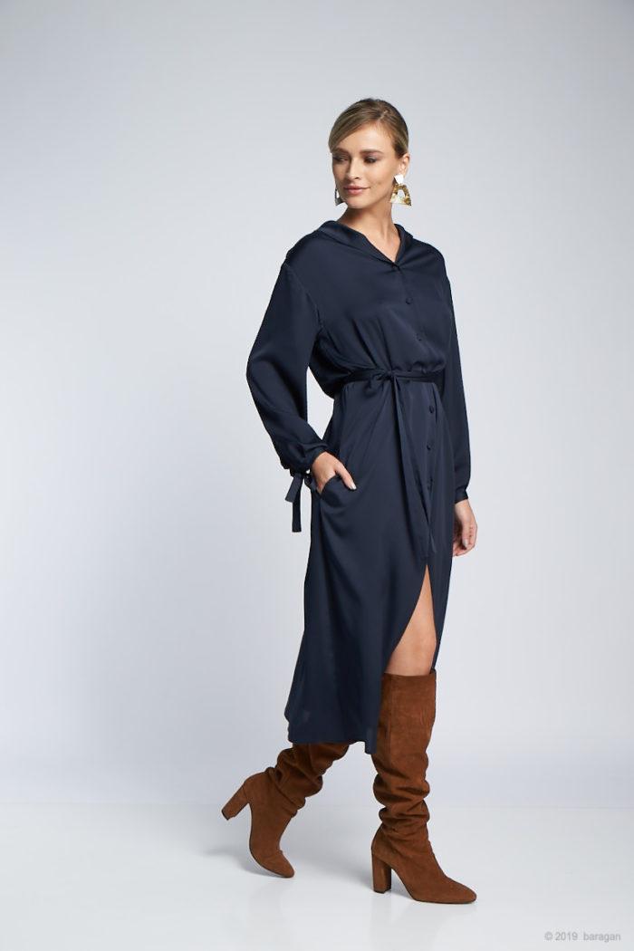 Rochie Xenia Bleu Nuit