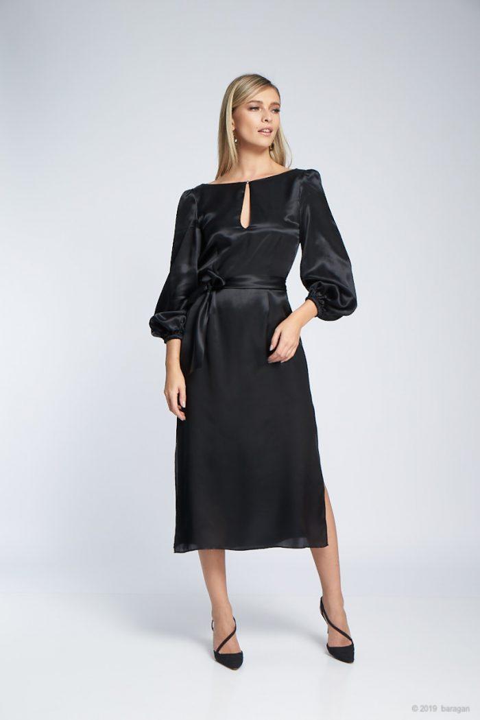Rochie Ramira Silk Black