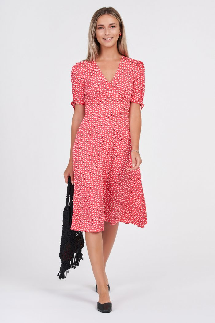 Sweet Apple Dress Red